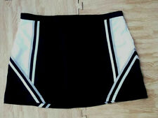 Adult Plus Size Black White Silver Cheerleader Uniform Skirt 37-39 Cosplay Goth