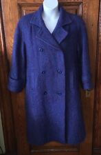 FAB!! Vintage AVOCA HANDWEAVERS IRELAND Purple & Blue Wool & Mohair COAT, Sz S