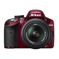 Near Mint! Nikon D3200 with AF-S 18-55mm f/3.5-5.6 VR Red - 1 year warranty