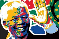 Mandela - Pop Art - Luxurious Lithography (8.5X11 inches) Numbered and Sign