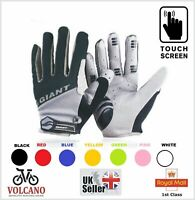 GIANT Winter Cycling Gloves Touch Screen Full Finger Bike Bicycle Cycle Mitts UK