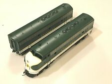Southern HO Oriental brass factory painted green FP7a&F7b  both powered
