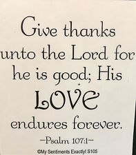 NEW MSE! My Sentiments Exactly! Unmounted Rubber Stamp S105 Give Thanks