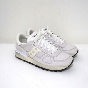 Saucony Shadow Distressed Original Unisex Sneakers White Size 7 NEW