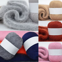 Long Plush Hand-knitted Crochet Yarn Coral Cashmere Yarn Sweater Scarf DIY