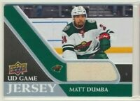 2020-21 Upper Deck Series 1 UD Game Jersey Matt Dumba Minnesota Wild