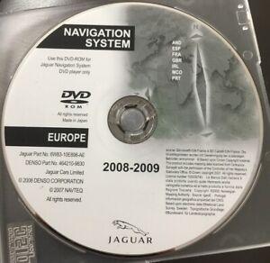 JAGUAR XF XK SAT NAV NAVIGATION DVD PART EUROPE UK GB MAP DISK DISC CD XKR XFR