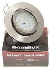 KAMILUX Ultra Flach LED Einbauleuchten Bajo K9451 | 5W | 230V | Einbaustrahler