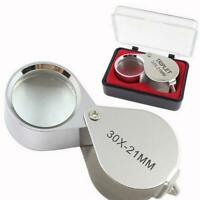 30X21mm Jewellers Jewellery Loupe Magnifier Magnifying Eye Lens SH Glass A8V7