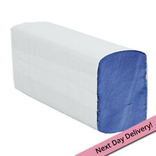Blue disposable Paper Hand Towels -  Z Fold - 1ply - 3,000 towels (code 405)