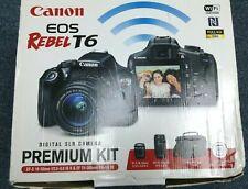Canon Rebel T6 Digital SLR Camera 18-55mm Kit &75-300 mm LENS, Carry Bag, 32GB