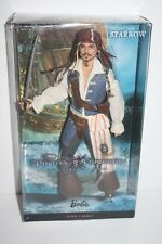 Barbie Captain Jack Sparrow Pirates of the Caribbean Pink Label 2010 T7654 NRFB