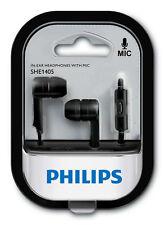 Nuevo Philips SHE1405 In-Ear Earphones Mic iOS Android iPhone Samsung Sony LG