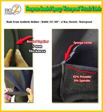 BIGZFABRIC® NEOPRENE BONDED SPONGE WATERPROOF WETSUIT FABRIC-BLACK 5mm-BY THE FT
