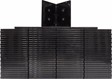 (100) DV4R14BKPR Black Quad Holds 4 DVDs Empty Case Boxes Overlap 14mm Four Disc