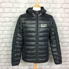 EA7 EMPORIO ARMANI MENS UK S BLACK DOWN BUBBLE TAPE JACKET PUFFA RRP £170 CS
