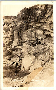 the Last Hard Climb Monadnock Mt. Jaffrey NH 1942 RPPC Vintage Postcard PBA