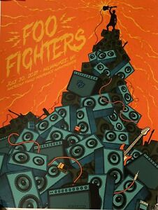 Foo Fighters Milwaukee poster 2021 7/30 american family amphitheater