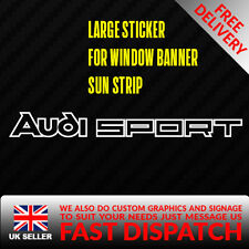 AUDI SPORT Sticker Badge for Sun strip Vinyl Decal Banner Sponsor Visor