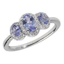 Anelli di lusso con gemme ovale tanzanite Diamante