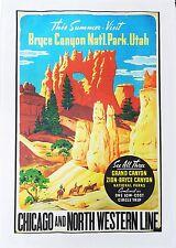 El Bryce Canyon-Estilo Retro toalla de té de algodón grande cartel viaje
