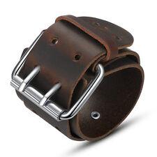 New 2017 Fashion Punk Gothic Leather Belt Mens Bracelet Wristband Bangle Cuff