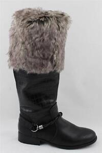 Leg Warmers Faux Fur Pair Warm Animal Print KP-45 D62