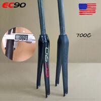 "EC90 Road Bike Full Carbon Rigid Fiber Fork 700C 1-1/8"" Threadless Matt/Gloss"
