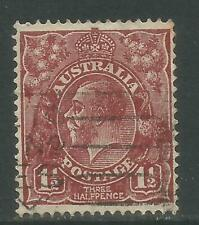Australia 1931-36 King George V 1 1/2p red brown (115) fine used