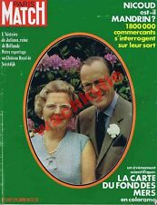 Paris Match n°1207 du 24/06/1972 Juliana de HollandeNicoud Carte fond des mers