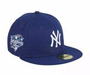 New York Yankees Royal New Era World Series Gum Pack Fitted Cap 7 3/8 2000 Hat