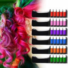 6PCS/SET Mini Disposable Salon Use Hair Dye Comb Crayons For Hair Color Chalk KS