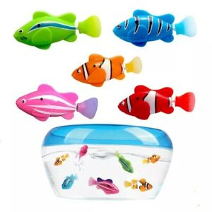 New Arrival! 5 Pieces Funny Swimming Electronic Fish Activated Battery Powered