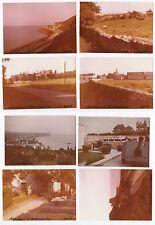 Lot 8 PHOTOS ANCIENNES COULEUR Arromanches et ses alentours 1973 Plage Ville