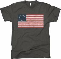 Men's Betsy Ross Distressed American Flag Shirt S-XXL