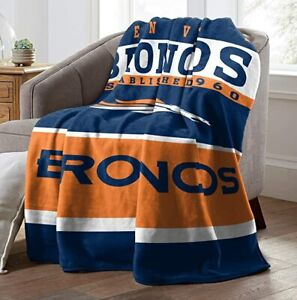 Denver Broncos Fans Soft Fleece Warm Throw Blanket for Couch Sofa Bed Chair
