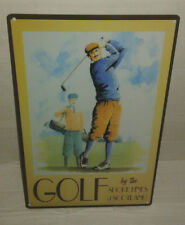 plaque metal golf  publicitaire style emaillee metal plate piastra metallica