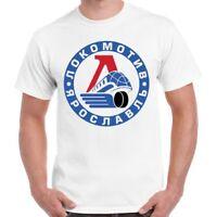 Lokomotiv Yaroslavl Ice Hockey Russian Moscow Atletic Vintage Retro T Shirt 483