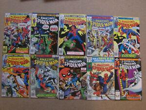 "Lot 10 Comics VO import USA""THE AMAZING SPIDER-MAN""MARVEL1976(STAN LEE,BUSCEMA.."