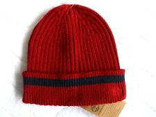 TIMBERLAND Ribbed Dahia Red CUFF BEANIE Tuque OSFA Hat NEW WITH TAGS
