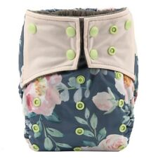 Baby Cloth Diaper Nappy Cover Bamboo Charcoal Reusable Gussets Flower For Girls