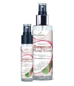 Organic 100% Geranium Floral Water DUO 30 &150ml Combination Teenage skin Eczema