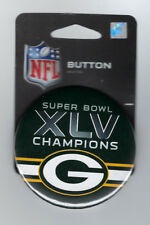 2011 Green Bay Packers Super Bowl XLV Champions button SB 45 Aaron Rodgers MVP