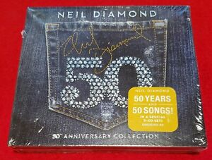 NEIL DIAMOND - 50 - 50th Anniversary Collection - 3 CD's - New