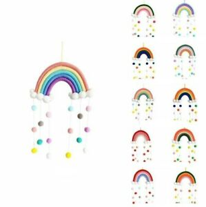 Nursery Room Wall Hanging Decoration Rainbow Comfortable to Touch Cotton Thread