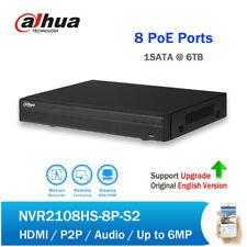 Dahua 8Ch Compact 1U 8PoE NVR2108HS-8P-S2 Lite Network Video Recorder HDMI/VGA