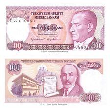 Turkey 100 Lira 1970 (1984) P-194 Banknotes UNC