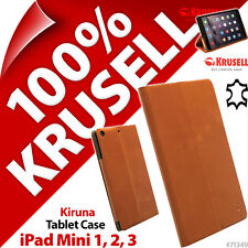 Krusell Kiruna GENUINE LEATHER Tablet Case Stand Cover for Apple iPad Mini 1 2 3