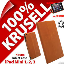 Krusell Kiruna Cuir Véritable Étui Tablette Support pour Apple Ipad Mini 1 2 3