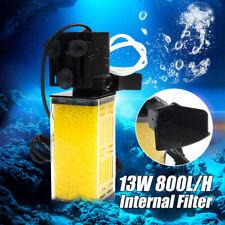 13W 800L/H Aquarium Fish Tank Submersible Internal Filter Filtration Water
